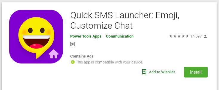 Quick SMS Launcher: Emoji, Customize Chat - Review & updated